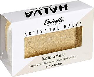 Emirelli Artisanal Halva Dessert – Authentic Middle Eastern Candy Turkish Sweets – Vegan Candy 55%-Tahini Halwa - Halvah T...