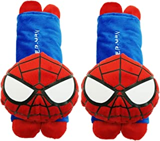 Mykubi spider-man Cute Cartoon Automotive Vehicle Car Safety Seatbelt Cover Soft Plush Padded Seat Beltush