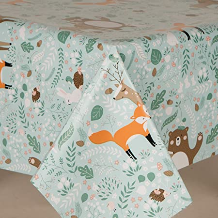 FOX  VINYL ASSORTED STYLES SIZES HARVEST DOGS FLANNEL BACK TABLECLOTHS