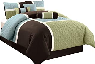 blue green and brown comforter