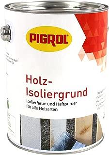 Pigrol Holz Isoliergrund 2,5L weiss Isolierfarbe und Haftprimer für alle Hölzer
