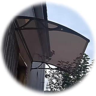 庇ひさし雨よけ、ドアキャノピーウィンドウオーニング、 ポリカーボネートパティオ保護屋根屋根小屋、 屋外の拡張可能な正面玄関の壁の雨雪カバー、 7サイズ カスタマイズ可能 (Color : Brown, Size : 80X115CM)