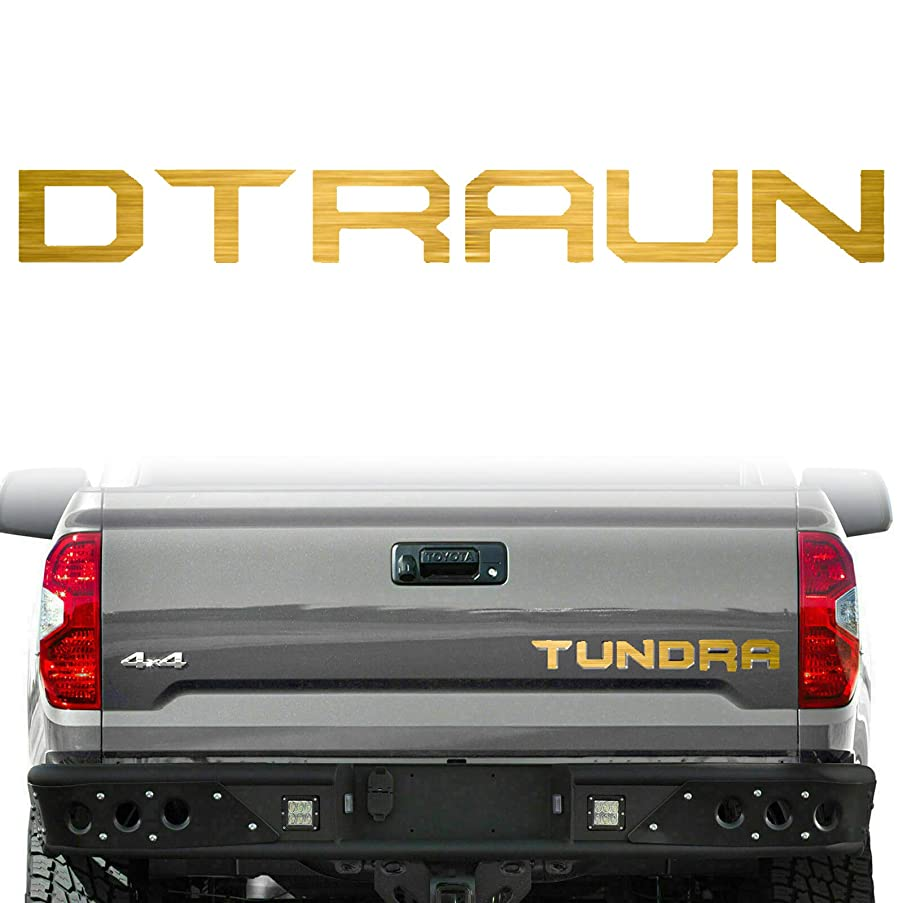 Xotic Tech Brushed Aluminum Gold 6pcs Tailgate Letter Decor Sticker Fit For 2014-2018 Toyota Tundra