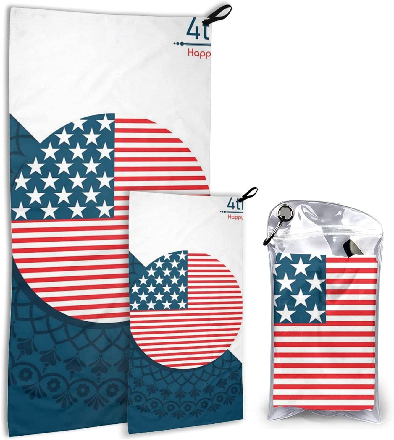 Direct store United States 4th July Microfiber trust Towels Quick Ca Dry Pack - 2