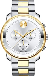 Men's BOLD Metals Chronograph Watch with Printed Index Dial, Silver/Grey/Gold (3600432)