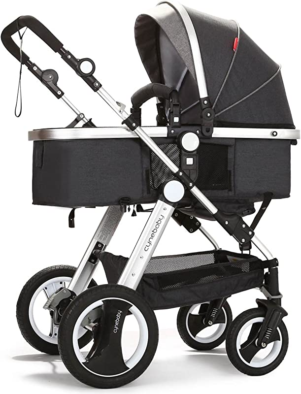 Cynebaby Infant Toddler Baby Stroller Carriage Compact Pram Strollers Add Tray Black