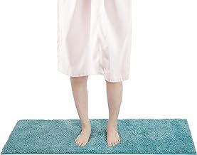 FRESHMINT Bath Mat Set, Large Size 16.5 x 47 inch, Bathroom Rugs Fleece Flannel Thick Memory Foam Padded, Super Absorbent ...