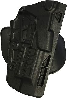 Safariland 7378 7TS ALS Concealment Holster, Flex-Paddle & Belt Loop Combo, Glock 20, 21, SafariSeven Plain Black, Right Hand