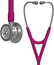 3M Littmann Cardiology IV Diagnostic Stethoscope, Standard-Finish Chestpiece, Raspberry Tube, Stainless Stem and Headset, 27 inch, 6158