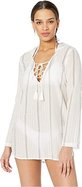 7eb074ae98 MIKOH SWIMWEAR Cannes V-Neck Tunic Cover-Up at Zappos.com