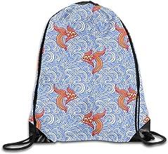 Jiger Line Coil Drawstring Backpack Bag Rugzak Shoulder zak Sport Gym Yoga Runner Beach Hiking Dance