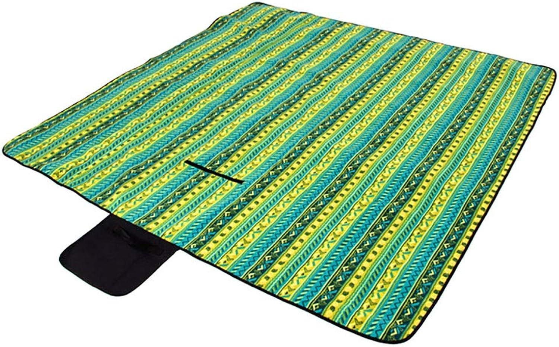 Picknickdecke groe 200  200 cm wasserdichte Rückseite Tragbare Faltbare Outdoor Teppich Garten Strandmatte für Wandern Reise Festival Camping Park Zelt Teppich