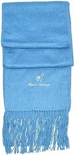 Gamboa - Alpaca Scarf - Light Blue - Unisex Alpaca Scarf with Fringes