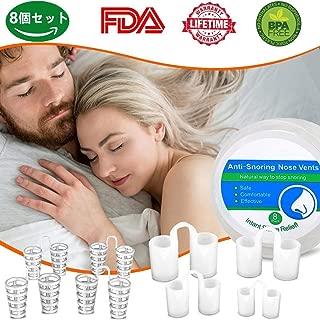 いびき対策グッズ鼻呼吸促進 睡眠対策 いびき軽減、 呼吸を楽にするいびきと自然で快適な睡眠のためのいびき 男女兼用 (2種類、8個セット)