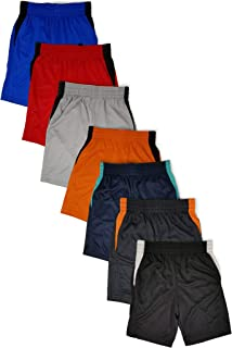 Andrew Scott Boys 7 Pack Active Performance Mesh Style Basketball Sport Shorts
