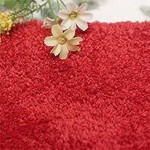 Jeyie Pretty Floral Rose Semi-Circular Shape Bath Rug Floor Mat