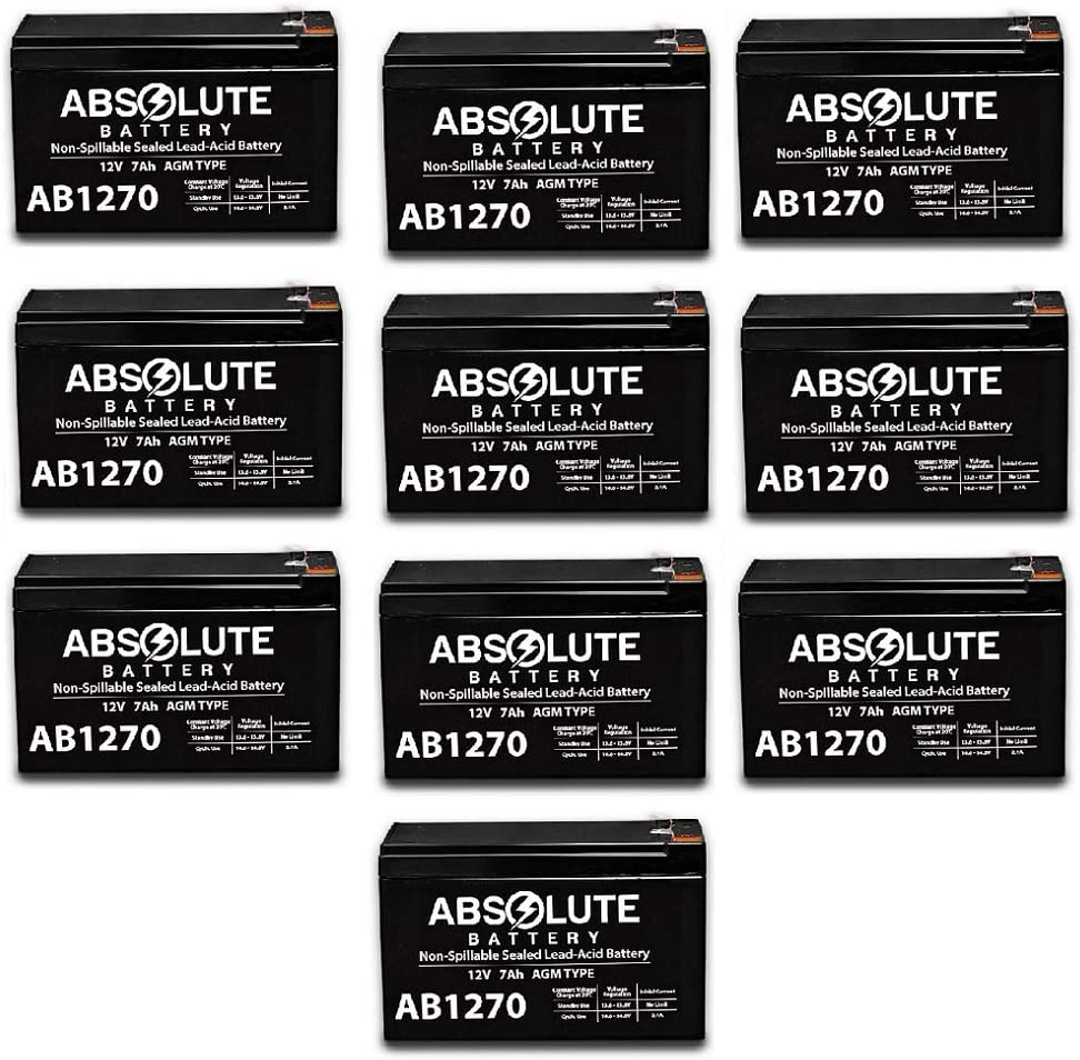10 Inexpensive Popular popular Pack New AB1270 12V 7AH Tempest Replacement Battery T SLA for