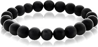 | Crucible Black Matte Onyx Bead Natural Stone Stretch Bracelet (10mm)