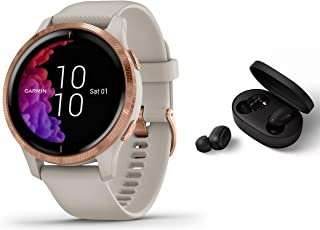 Garmin Venu   GPS Fitness Smartwatch   Musicplayer Herzfrequenzmessung   Sand/beige inkl. Bluetooth Headset