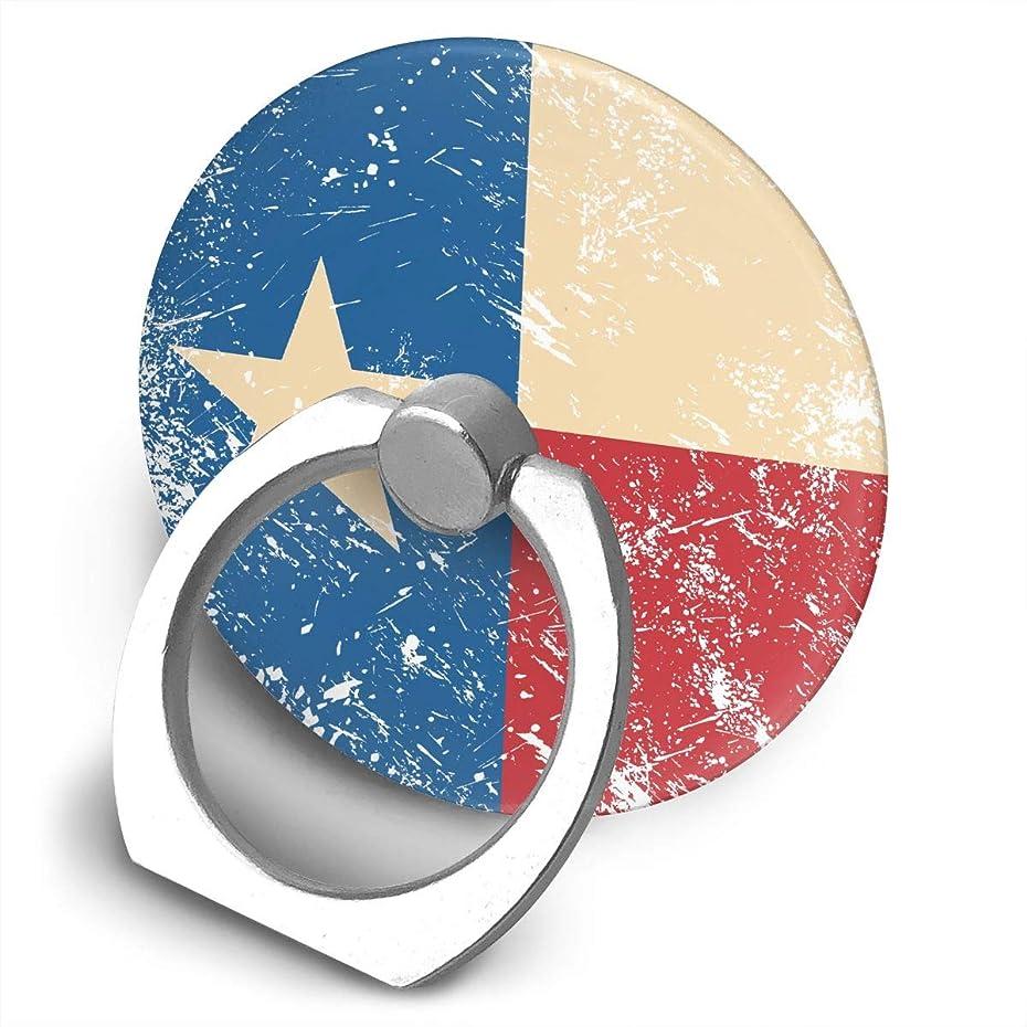 見るラウズ政治家テキサスレトロフラグ 360度回転 携帯リング スタンド スマホスタンド ホルダー 薄型 指輪 リング 携帯アクセサリースタンド機能 落下防止