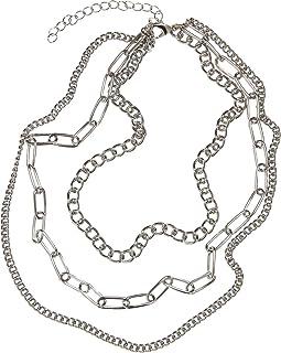 Cadena de capas para cuello, plateado, talla única