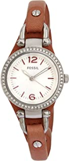 Fossil Women's ES3472 Georgia Analog Display Analog Quartz Pink Watch