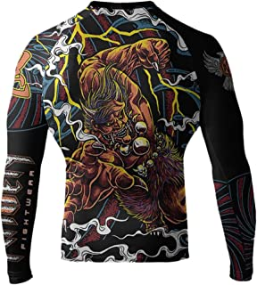 Raven Fightwear Men's The Oni of Rashoumon Long Sleeve MMA BJJ Rash Guard