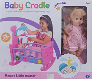 Baby Doll With Cradle For Girls