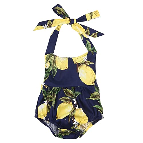 f7d2a016f92f Mornbaby Toddler Baby Girls Clothes Lemon Romper Dress Outfit Summer