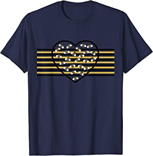 Busy Bee Heart with Stripes T-Shirt