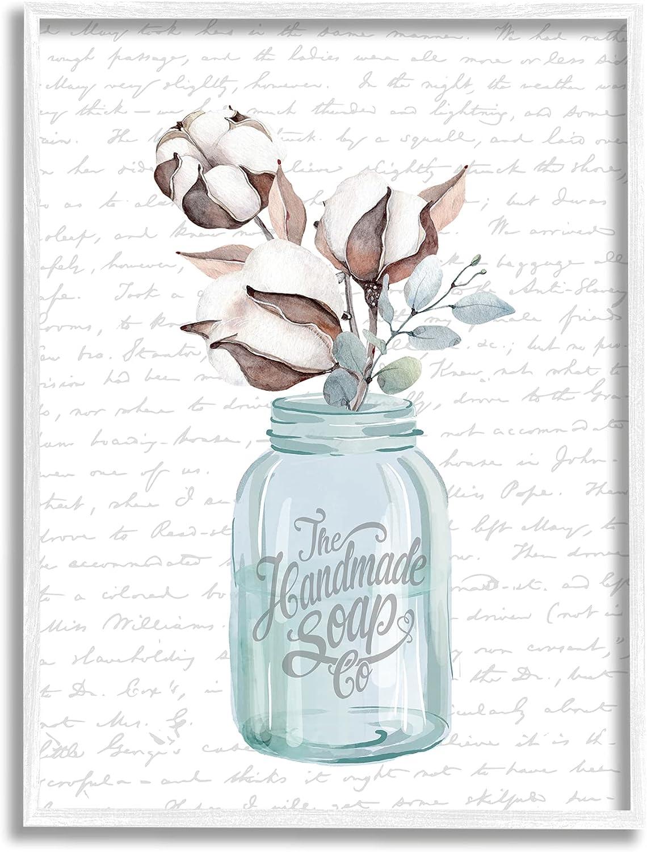 Stupell Industries Handmade Time sale Soap Max 77% OFF Jar Bathroom Cotton Flower Word