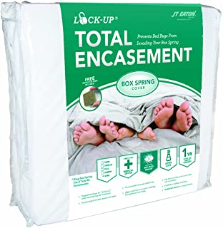 JT Eaton 80TWBOX Lock-Up Total Encasement Bed Bug Protection for Twin Size Box Spring