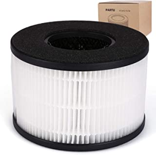 PARTU BS-03 HEPA Air Filter Replacement Filter, 3-in-1 Filtration System Include Pre-Filter, True HEPA Filter, Activated C...