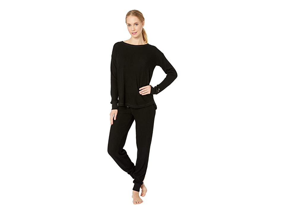 P.J. Salvage Starlet Ski Jammies PJ Set (Black) Women