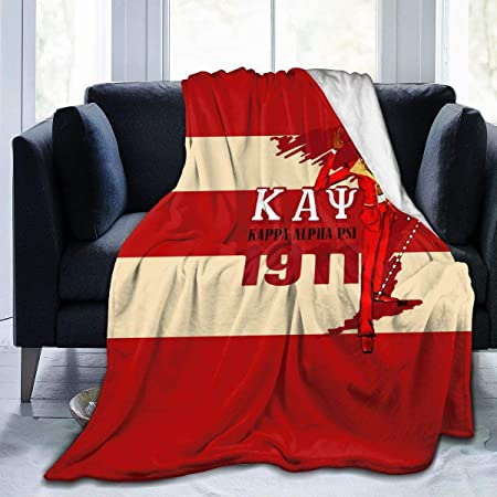 crohutkh Blanket Kappa Alpha Flannel Psi Soft Lightweight Warm Fluffy Air Conditioning Quilt Nap Blanket Throw Blanket for Bed Room,Sofa,Travel,Kids,Pets 50 x 40 inch for Kids