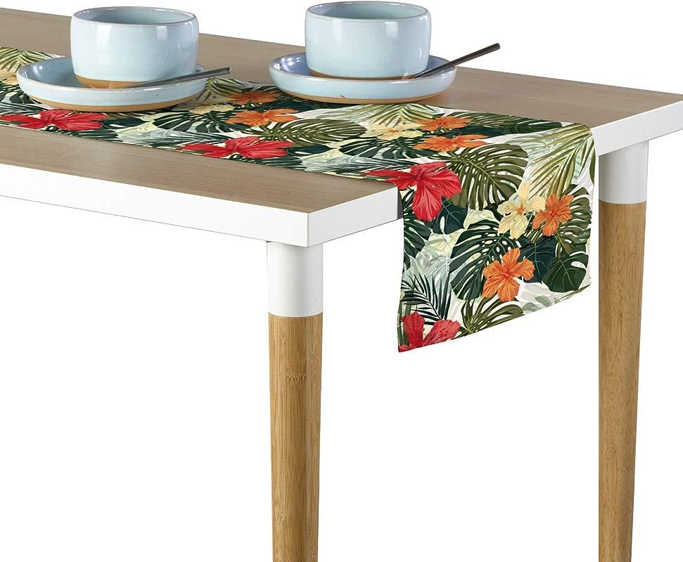 Milliken Hibiscus Garden Signature Table Runner Assorted Sizes 12 X72