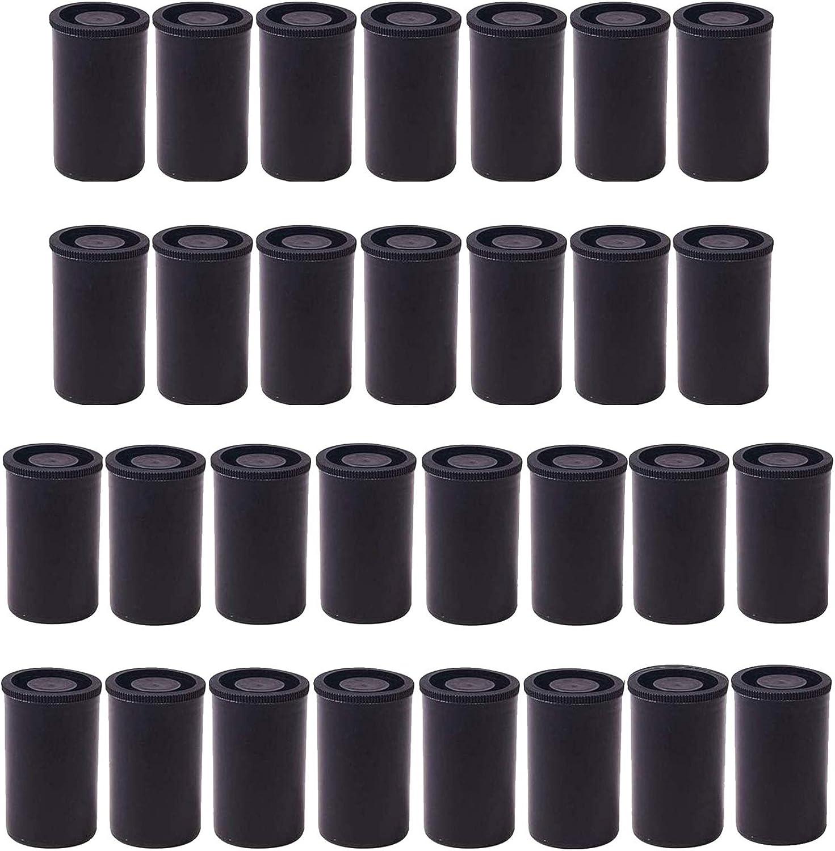 A/N 30 Piezas Botes de Películas Plástico, Película Contenedores de 33 Mm con Tapas, Botes de Carrete, para Actividades Científicas Almacenamiento Pequeño y Geocaching Pequeños Accesorios