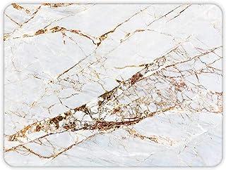 Gold Detaylı Beyaz Mermer Görünümlü | Cam Kesme Tahtası (30cm x 40cm)