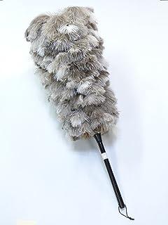 オーストリッチ毛ばたき 梅 パールグレー