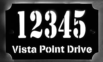 Custom House Address Plaque, LED Illuminated Laser Engraved Acrylic Double Plates Sign, Premium Quality, Stylish and Durable (11