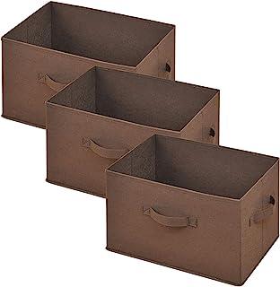 [山善] どこでも収納ボックス(3個セット) ブラウン YTCF3P(BR)