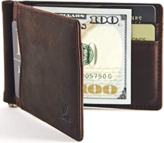 New Slim Wallet with Money Clip Finest Genuine Leather RFID Blocking Minimalist Bifold for Men