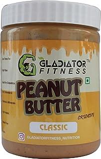 Gladiator Fitness™ Classic Peanut Butter   29g High Protein   Zero Cholesterol   Vegan   Gluten Free (250 G, Crunchy)