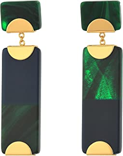 Tory Burch - Resin Color Block Drop Earrings