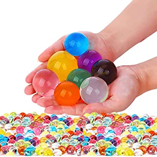 Non Toxic Water Beads Kit 300pcs Giant & 20000 Small Gel Beads for Kids-Value Package Sensory Toys and Decoration