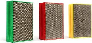 Z-LEAP Diamond Hand Polishing Pads 3-Pcs Set for Granite Marble Concrete Glass Sanding Block