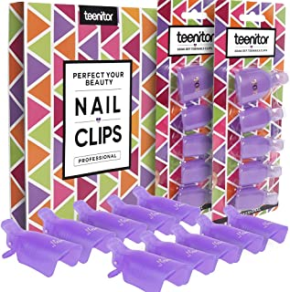 Teenitor Acrylic Nail Polish Remover Clips, 20 Pieces Reusable Toenail and Finger Gel..