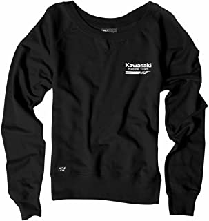 Factory Effex Women's Crew Sweatshirt (Black, Large)