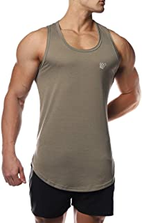 Jed North Men's Classic Active Bodybuilding Performance Muscle Tank Top Gym Workout Casual Vest