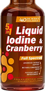 Iodine Supplement for Thyroid Support - Iodine Drops for Weight Loss & Metabolism Boost - Made in USA - Effective Energy Boost - Focus & Clarity Improvement - Liquid Iodine with MAX Absorption